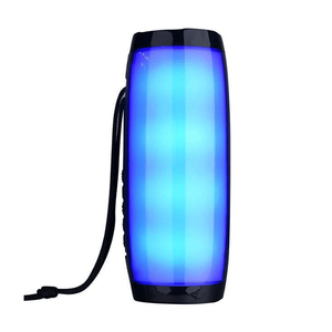 Colorful Outdoor Waterproof LED Light High Quality Subwoofer Logo Customized Portable Wireless Bluetooth Speaker