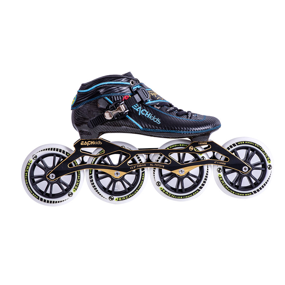 Professional carbon fiber speed four wheel shoes roller blades inline skates for sale