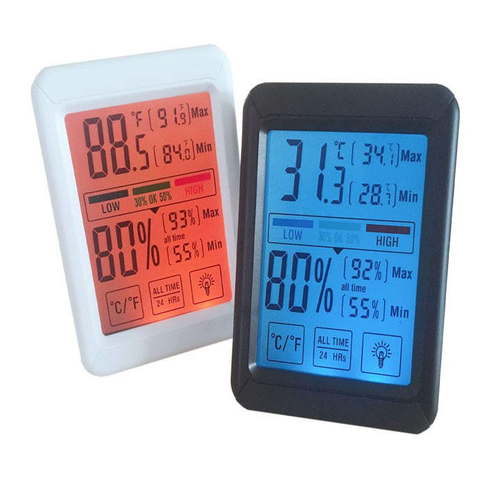 J & R Multifunktions Digital Display Bunte Indoor Temperatur Feuchte Lehren-messinstrument Thermometer Hygrometer Monitor