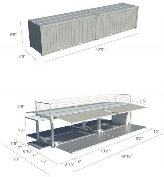 Factory 20ft 30ft folding 3 in 1 expandable container house shipping container house 40 ft expandable container house