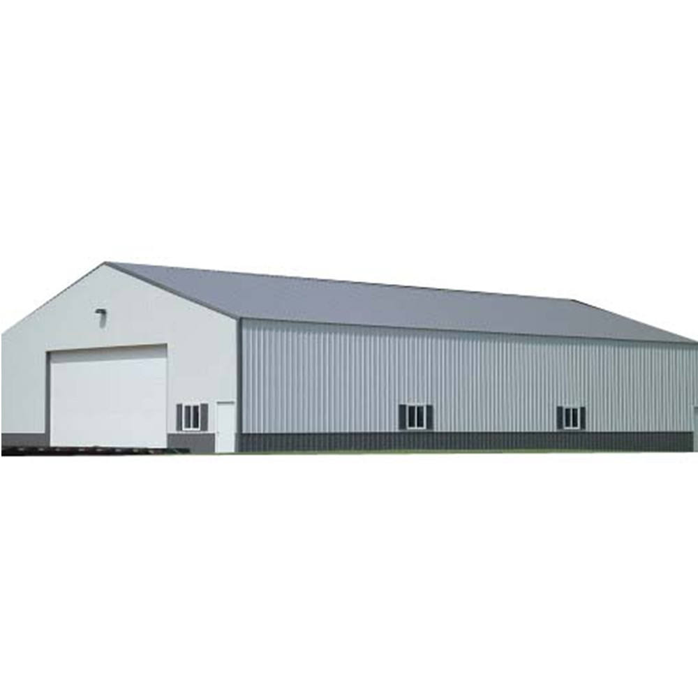 Prefabricated Steel Structure Real Building Storage Shed Large Span Warehouse