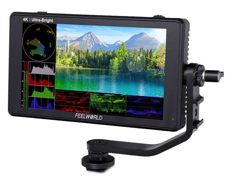 FEELWORLD LUT6S LUT6 6 Inch 2600nits HDR/3D LUT Touch Screen DSLR Camera Field Monitor 3G-SDI 4K HDMI 1920X1080 IPS Panel
