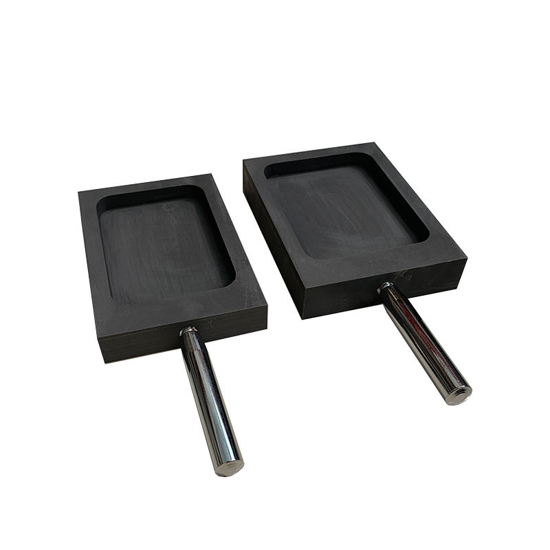 High pure graphite metal ingot mould mold with metal handle