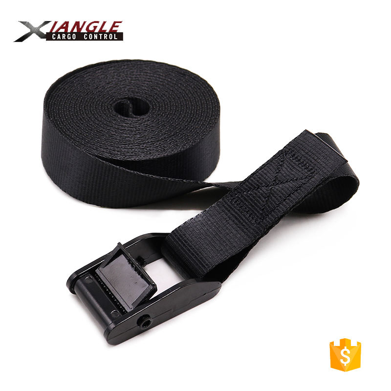 Lashing Webbing Strap Buckle 1 Inch Lashing Black E-coating Cam Buckle For Webbing Tie Down Strap With No Hook 2.5cm Cargo Belts 350kgs