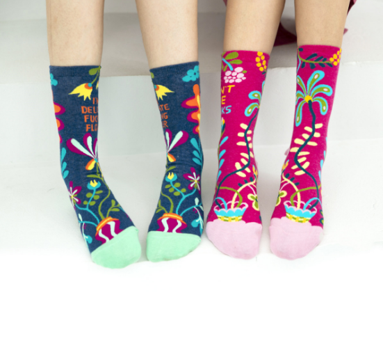 Fashion custom Christmas Gift Socks Feather Floral Socks happy Funny women socks