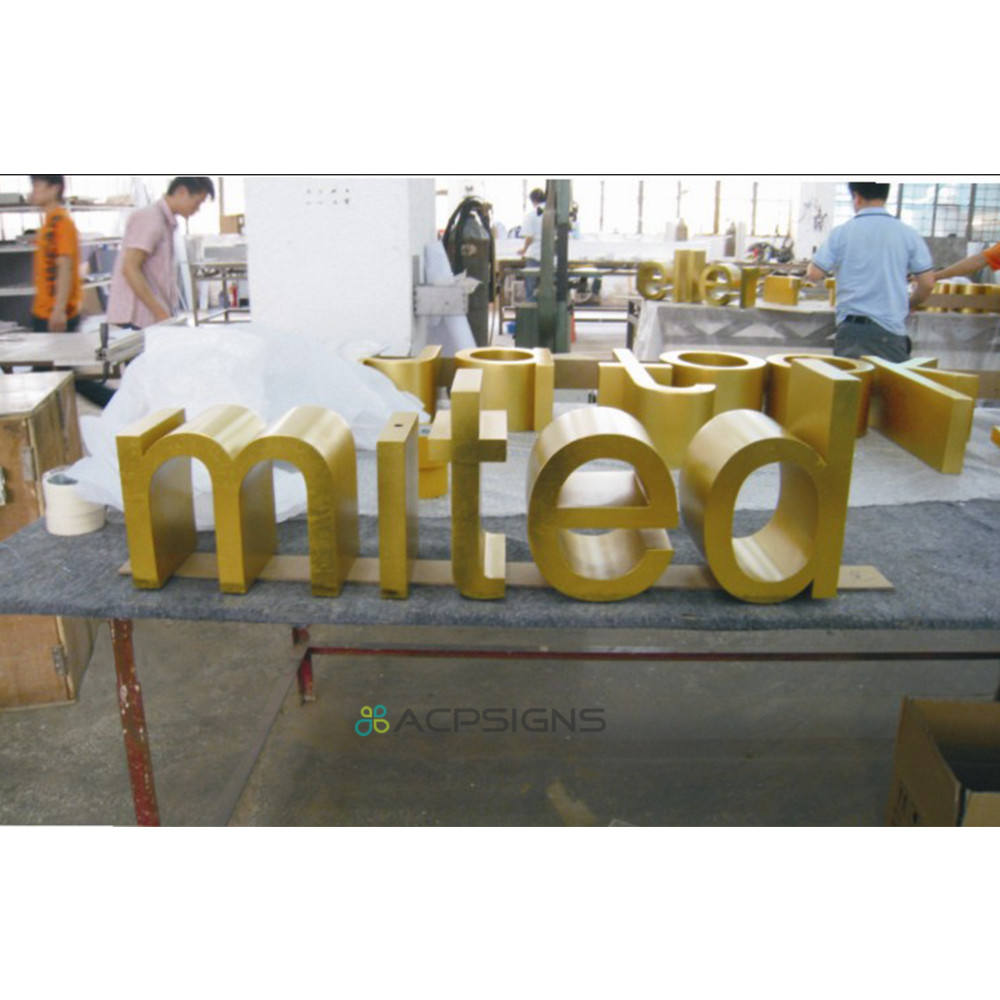 Acrylic 3d Lighting Stainless Steel Led Channel Lettering Sign/acrylic Back And Stainless Steel Face Return Lighting Letters