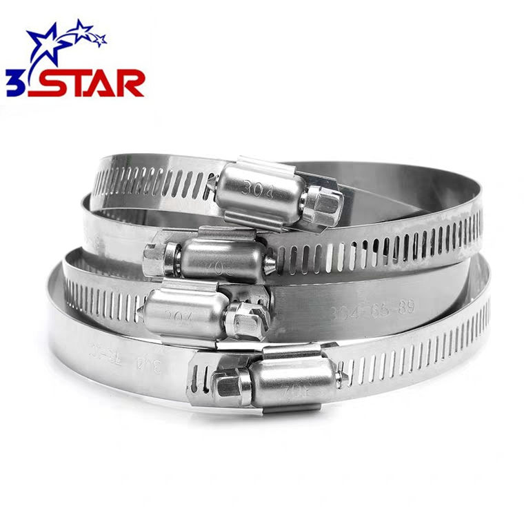 Grande heavy duty American type tubo di clip in acciaio inox 304 hose clamp