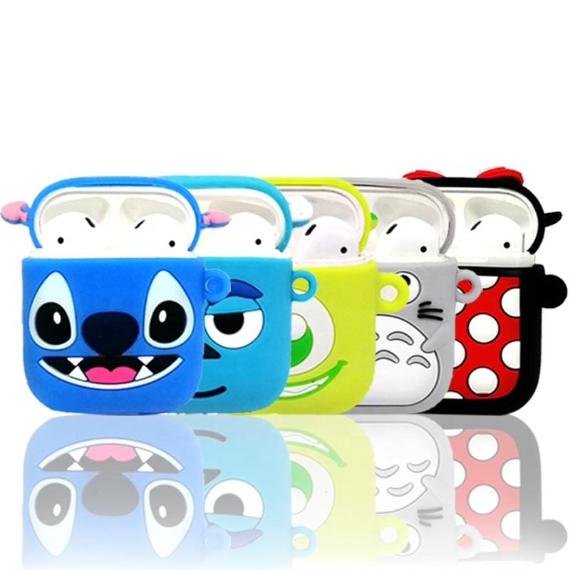 2020 NEW Arrivals Cute Cartoon airpods Case earphones Silicone Protective Cover Charging Headphones Case For APPLE air pods
