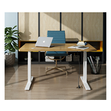 Ergonomic height adjustable standing desk frame adjustment system