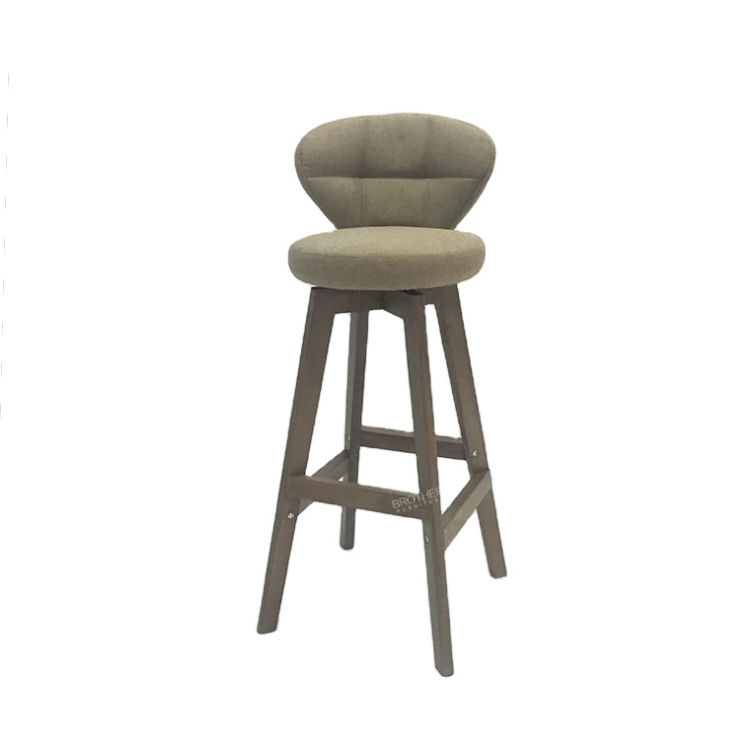 China Manufacturer High Quality Swivel Wood Counter Bar Breakfast Kitchen Stool Chair Modern