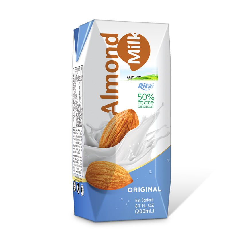 Best service in OEM Manufacturer from Vietnam in 200ml Paper Box Almond Milk Drink
