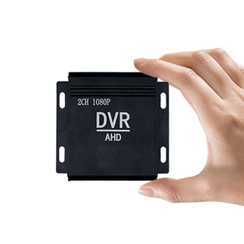 Bus Car Mini DVR Recorder AHD Auto Vehicle 2ch Camera HD Car Full HD 1080P Vehicle Blackbox DVR H 264 1080P CCTV DVRS
