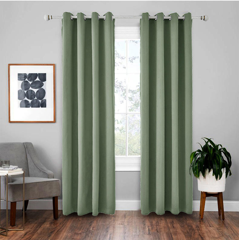 Curtains 120X120 Cortinas Black Out, Fire Retardant Hotel Curtain Blackout/