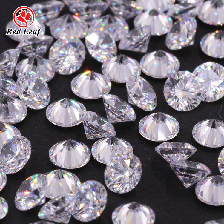 Redleaf Jewelry Wholesale price 5a gemstones white zircon diamonds cut cz stone cubic zirconia