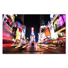 City Night Scenery Picture Decoration Canvas Art Painting New York