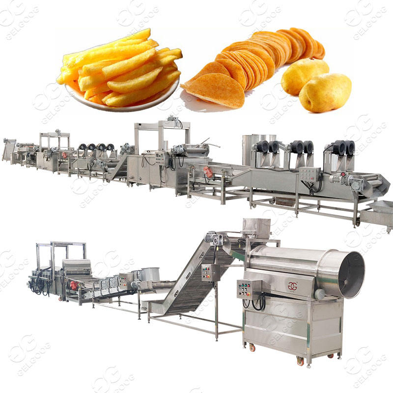500Kgs Full Automatic Machine Small Scale Potato Chips/Frozen French Fries Production Line