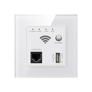300Mbps WIFI Indoor Access Point Dinding Mount Nirkabel Anti Router dengan USB Port dan Tombol Power
