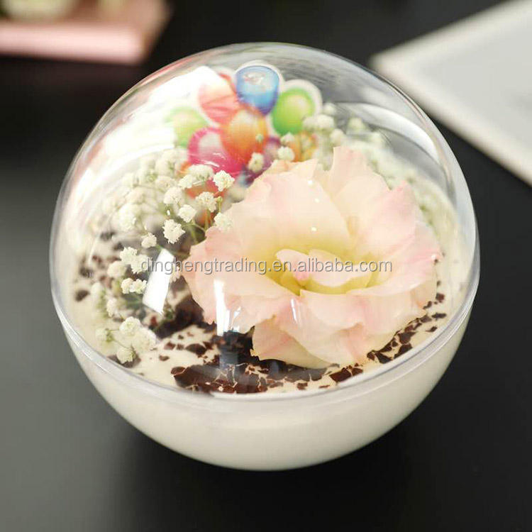 Wholesale New Arrival Sphere Clear Plastic Dome Cake Box Ball Salad Bowl with Lid in 4 Sizes