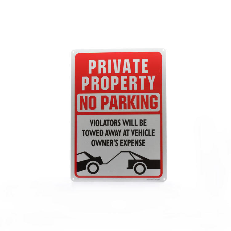 Custom chinese 2019 red and white metal outdoor parking alarm warning sign board system