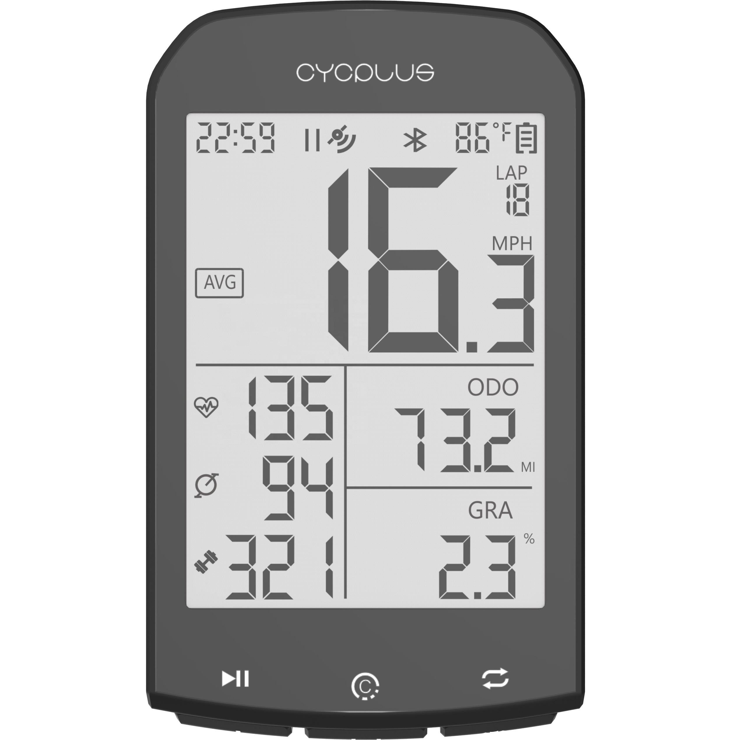 6570 gps cycling bike computer with heart rate monitor power meter