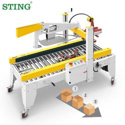 Semiautomatic Box Carton Case Sealing Sealers Machine Equipment Semi Automatic