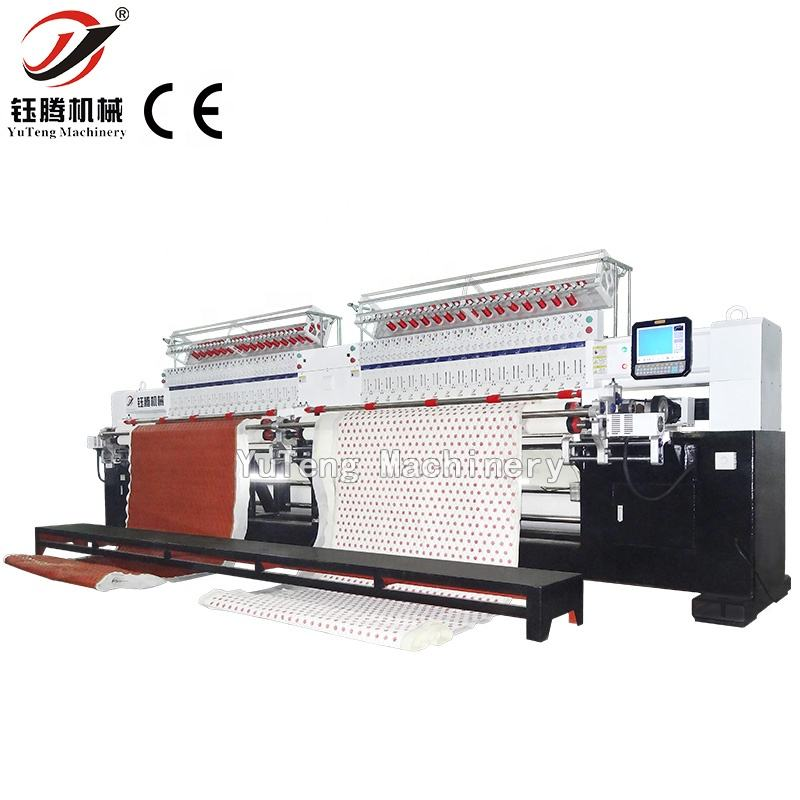 High speed multi head quilting embroidery machine