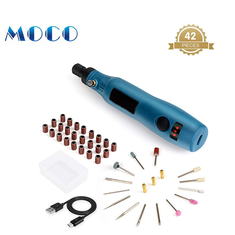 3.7v multi Purpose cordless 42 pieces aeecssory kits rotary tool