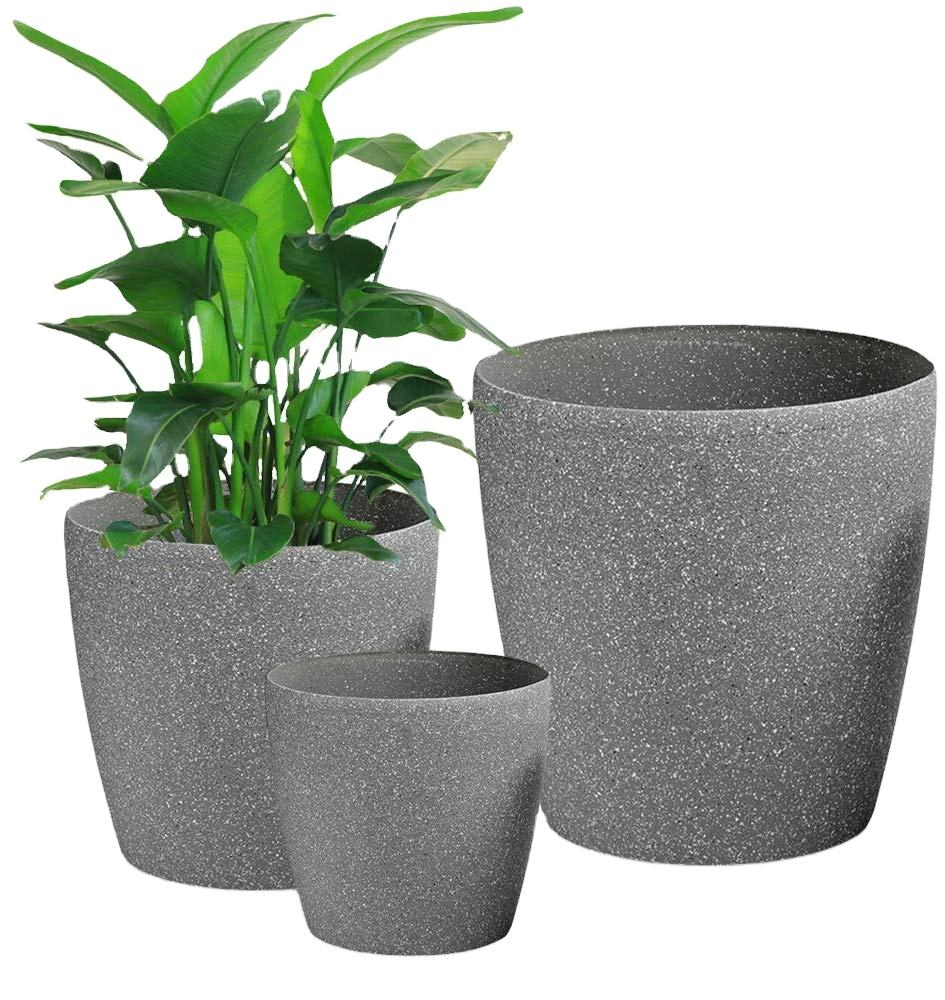 Natural Chinese Sand Frosted Artificial Big Decor Floor Design Flower Pots