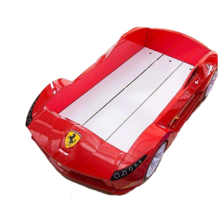 Factory shipped large children's racing bed sports bed teenagers luxury single double bed