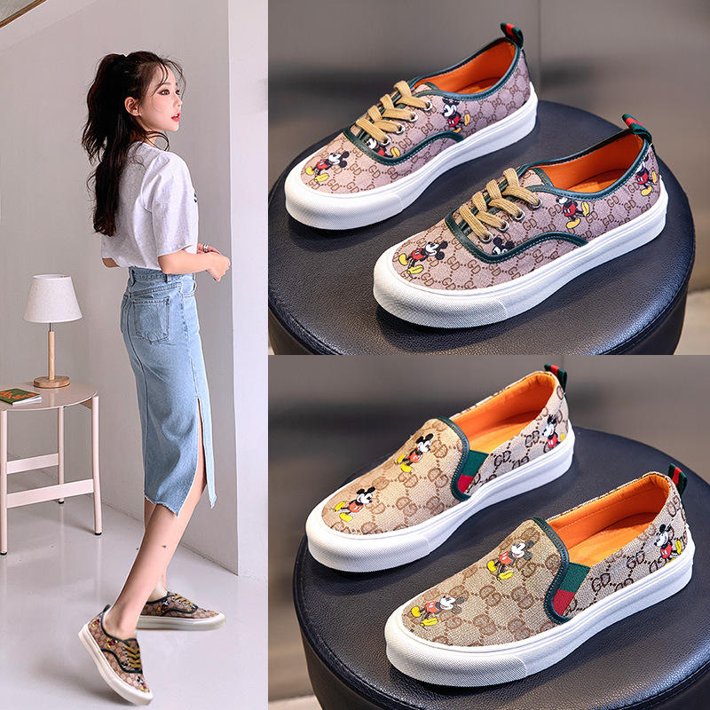 2020 wild casual summer breathable single shoes ladies board shoes flat one pedal women's shoes