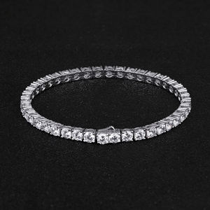 KRKC Oro All'ingrosso Ha Placcato 5A Cubic Zirconia Tennis Braccialetto Chain Donne del Mens Dei Monili Iced Out Diamante DELLA CZ Bracciale Tennis