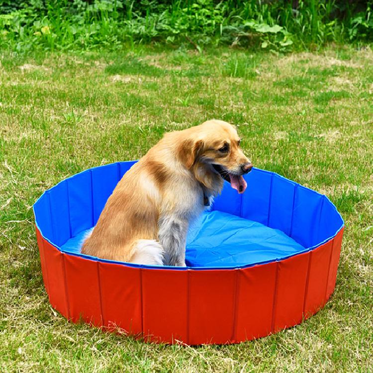 Verão fresco Engraçado Animal de Estimação Banho de piscina preenchimento Cão Dobrável Grande Inflável Piscina