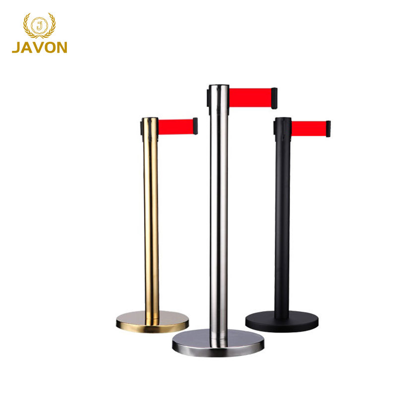 2 meter queue line stand double stanchion stanchions black with red belt
