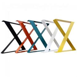 Multi-color Heavy Duty X shaped metal cast iron quadruped dining office conference table base, furniture leg
