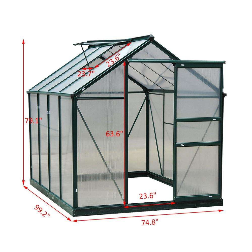 Nature Manufacturer Sale Commercial Aluminium Alloy Modern Outdoor Modular Greenhouse