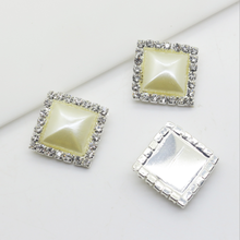 Hot Sale Square Pearl Diamond DIY Buckle for Jewelry Accessories