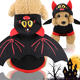 New bats wing Halloween Christmas Day costume funny transformed into dog clothes cat pet supplies