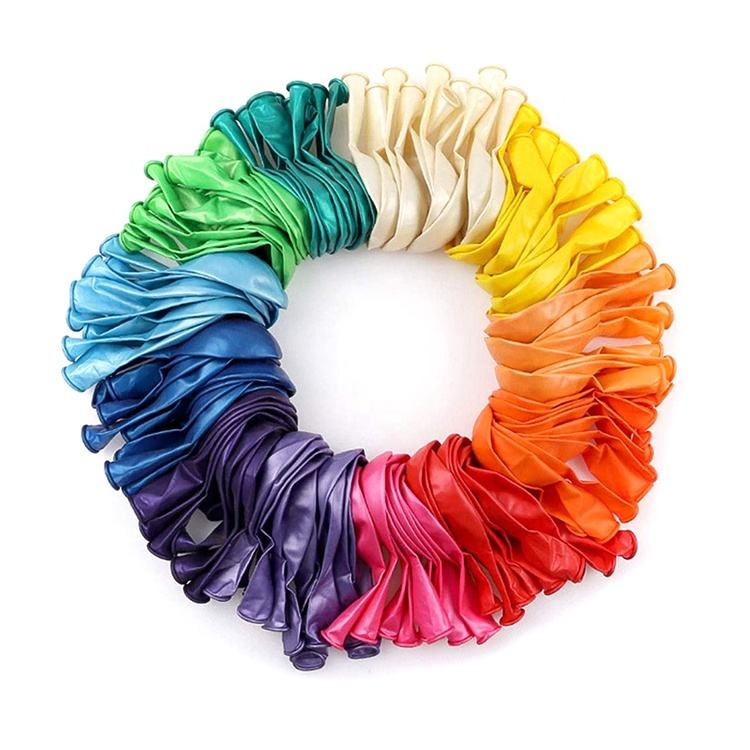 Nicro Custom Hot 100 Assorted Color Balloons 12 Inches 12 Kinds Of Rainbow Party Latex Balloons