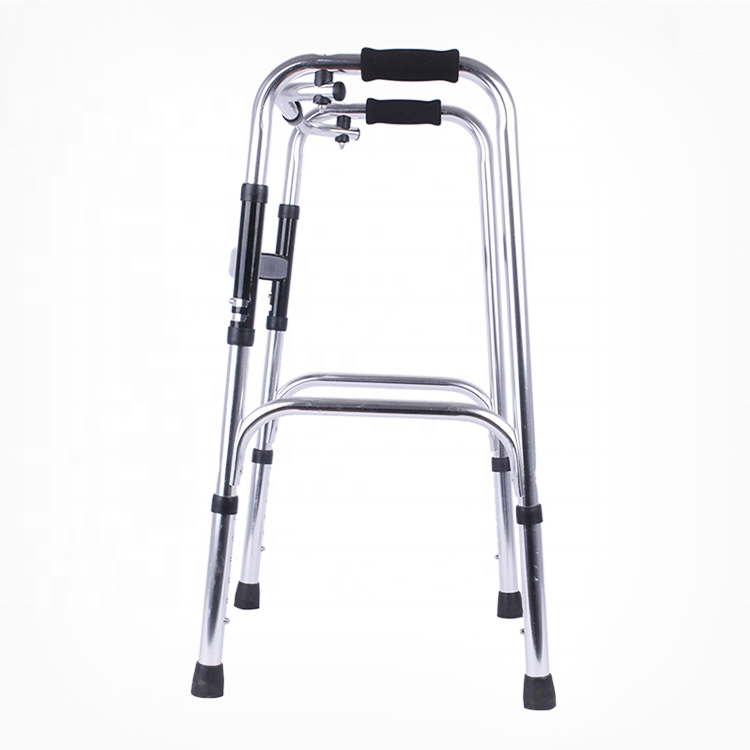 Heavy Duty Bariatric Folding Walker with Durable Plastic Handles medical elder walking aids for the elderly seniors