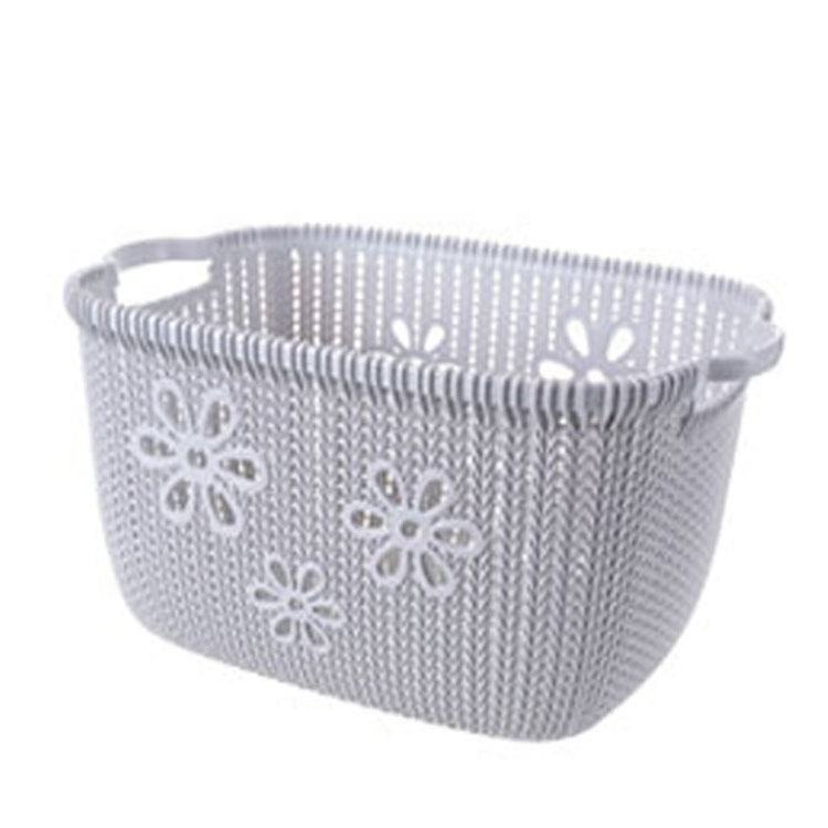 2020 new design Household plastic rattan woven printed dirty clothes storage basket
