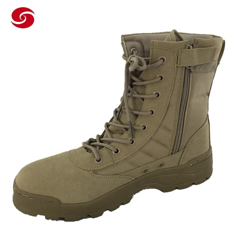 Outdoor Military SWAT Combat Desert Cow Suede Leather Oxford Boot
