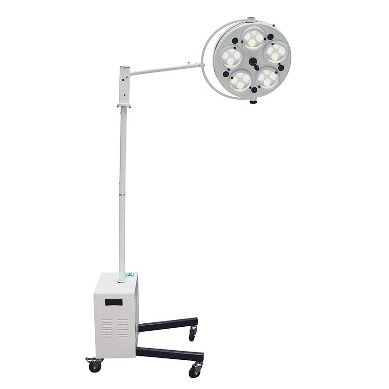 Medical Hospital Surgical equipment LED Shadowless Floor Mobile Removable portable medical examination lamp