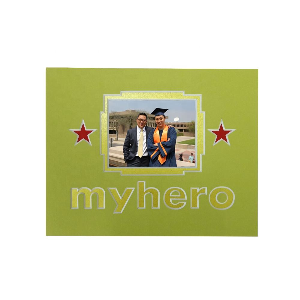 custom logo high grade family Paper photo frame /photo frame matboard