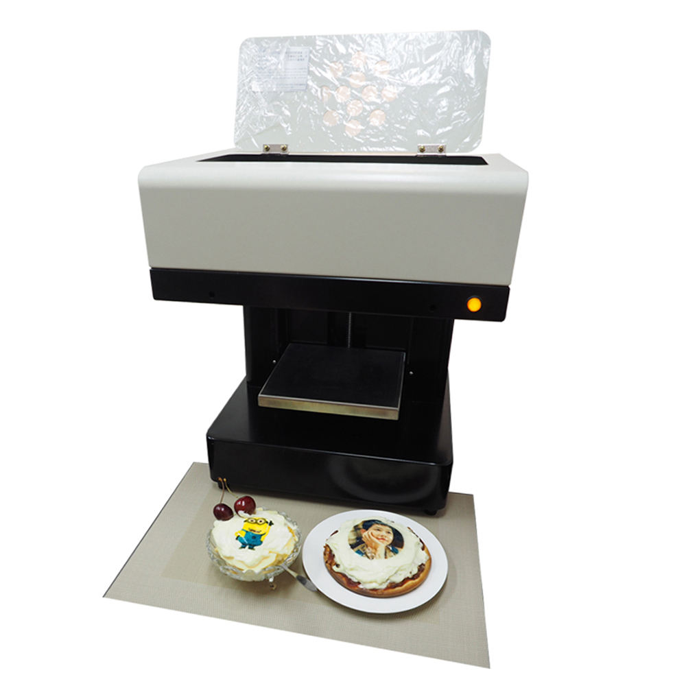 3D Digital Edible inkjet latte art coffee printer machine pizza cake printer latte DIY food printer for sale
