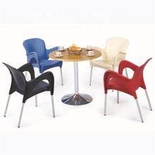 ( SP-UC254) Simple design plastic restaurant/dinning Red chair