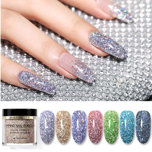 BORN PRETTY 10ml 2 IN 1 Holographic Polymer Acrylic Powder Dipping Nail Powder Extension Acrylic Nails