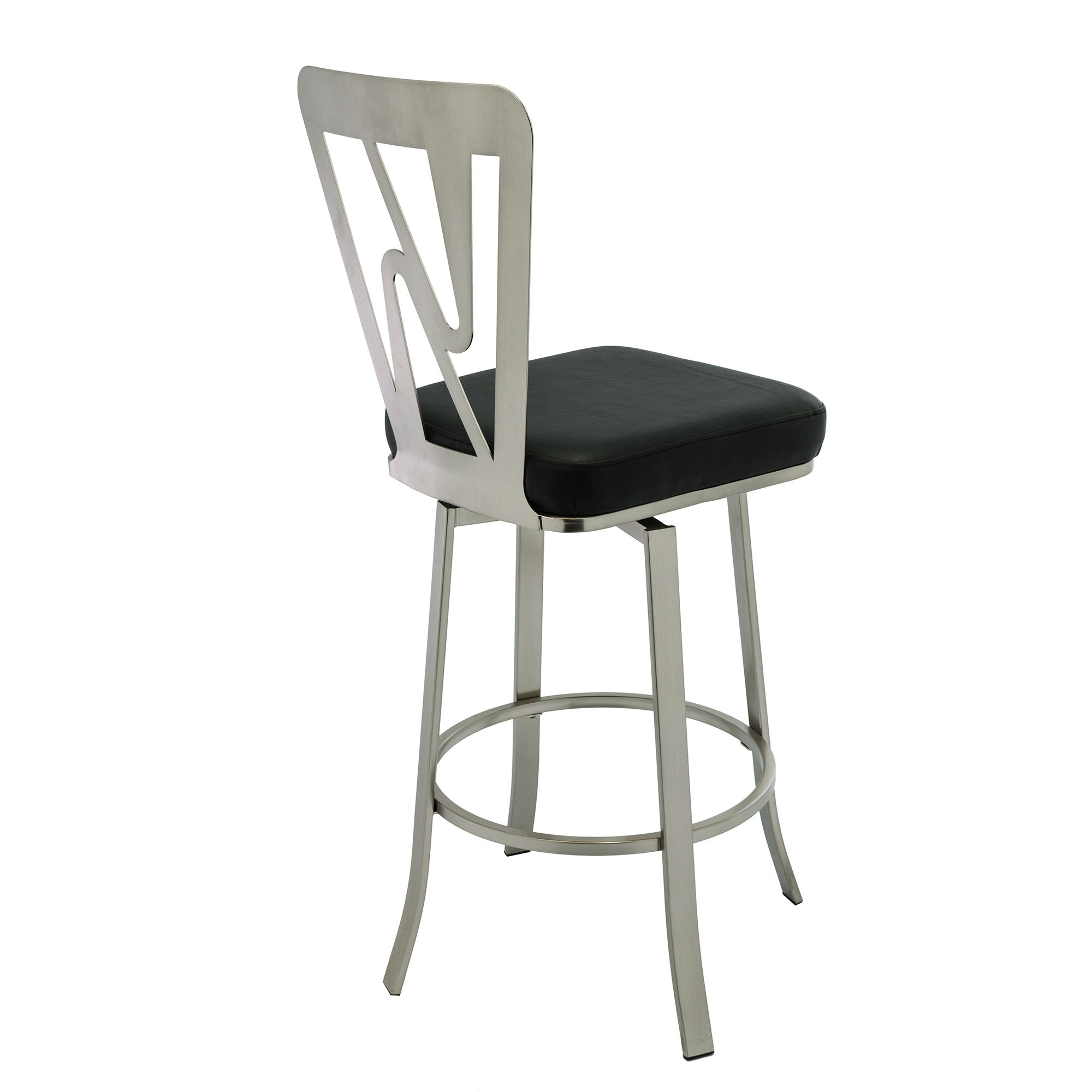 Modern Industrial Furniture Velvet Upholstered Silver Metal Frame High Bar Stools Chairs With Back Rest