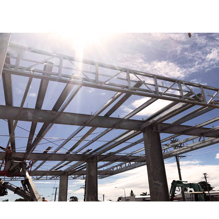 Construction roofing design space frame petrol station canopy for sale