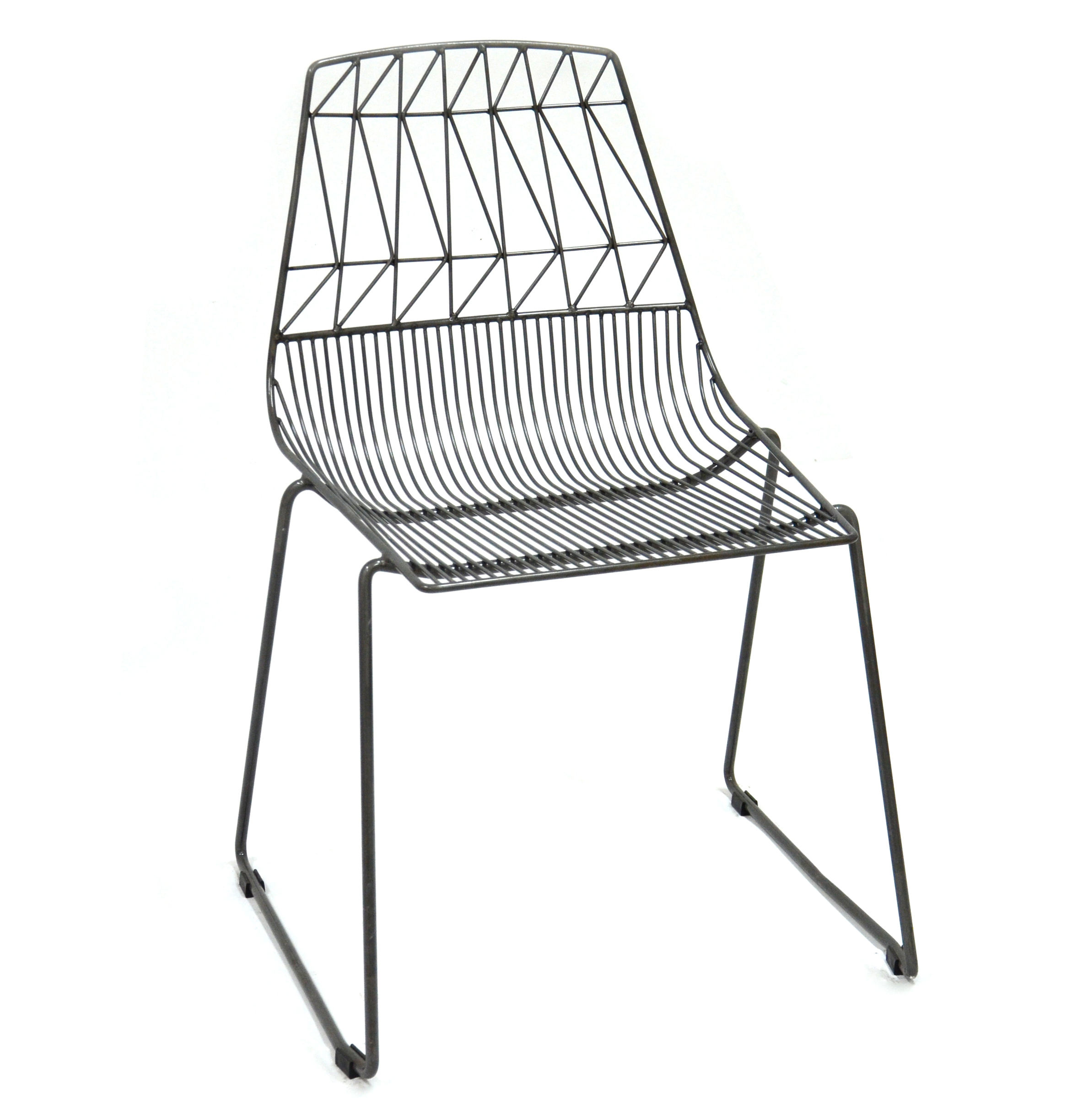 White Metal Wire Arrow Restaurant Wedding Dining Chair