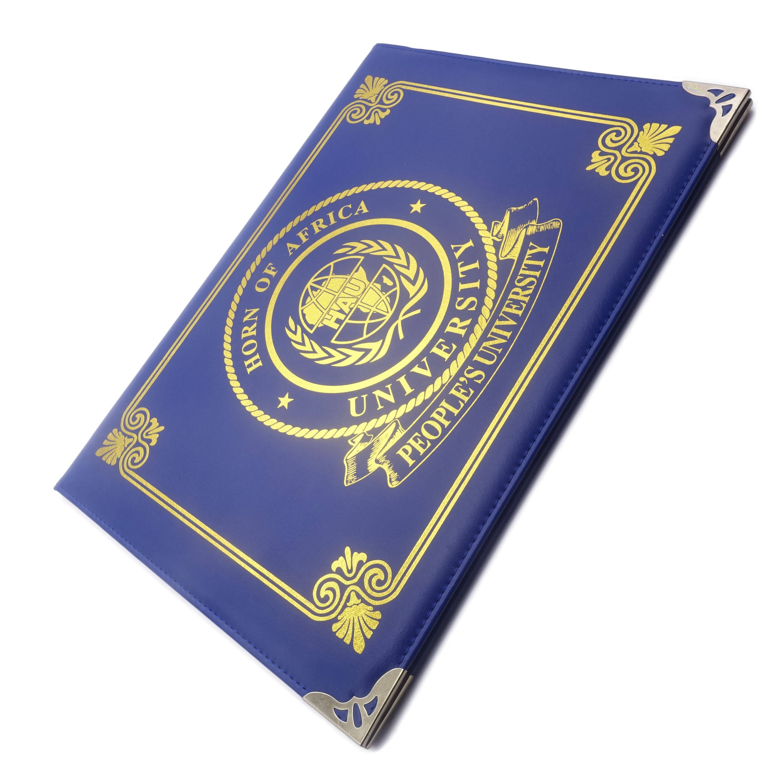 Wholesale Custom A4 Leather Graduation Diploma Holder Degree Certificate Cover